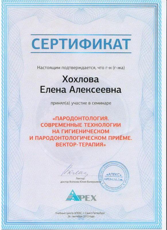 Хохлова Елена Алексеевна