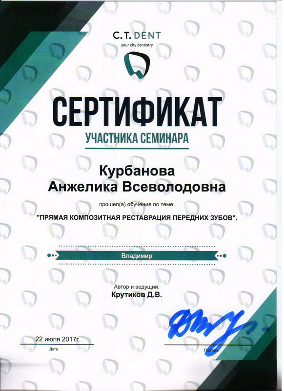 Курбанова Анжелика Всеволодовна